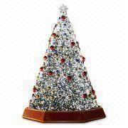 china 8m giant christmas tree with led light decorated with pine cone bow and