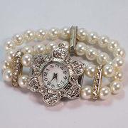 Lady's beads and pearl watch from China (mainland)