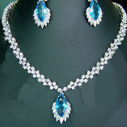 Precious Stone Silver Necklace Set from China (mainland)
