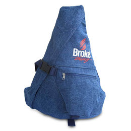 China Denim Sling Backpack with Adjustable Shoulder Strap, OEM and ODM Orders Welcomed