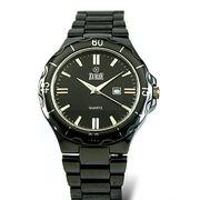 Black Ceramic Quartz Watch from Hong Kong SAR