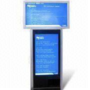 42-inch Double Screen LCD Advertising Players with 1920 x 1080, Anti-theft Function, Contrast 4000:1