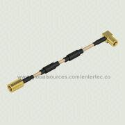 Ferrite Bead RF Coaxial Cable with Female SMB Contact S/T Plug to Female Contact SMB Right Angle from EnterTec Technology Inc.
