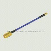 RF Coaxial Cable Jack with Female SMA S/T Jack to SS405 Cable Female Contact Mini SMP S/T Plug