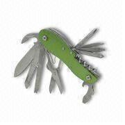 Hong Kong SAR Multifunction Pocket Knife with Rugged Aluminum Casing, Made of Stainless Steel
