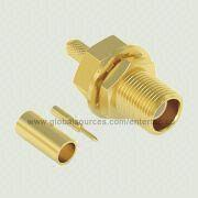 Coaxial MCX RF Connector with MCX F S/T R/P Bulkhead Jack for RG-178 Cable Assembly from EnterTec Technology Inc.