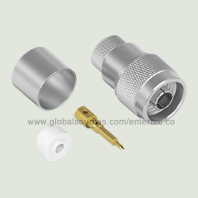 Standards Coaxial RF Connector with N Male S/T Plug for LMR-600 Coaxial Cable Assembly from EnterTec Technology Inc.