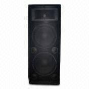 China 15-inch Dual Wooden PA Speaker Cabinet, Carpet Covered, with 1,000W