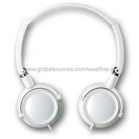 Foldable Noise-cancelling Hi-fi Stereo Headphone with 40mm Speaker, Flat Cables are Available from Wealthland (Audio) Limited