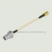RF BNC Cable Adapter with Female BNC, TNC S/T Bulkhead Jack to Female SMB Contact S/T Plug from EnterTec Technology Inc.