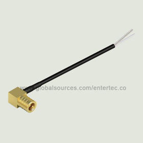 SMB to BNC RF Coaxial Cable Assembly with Female SMB Contact Right Angle Plug to Strip and Tin from EnterTec Technology Inc.