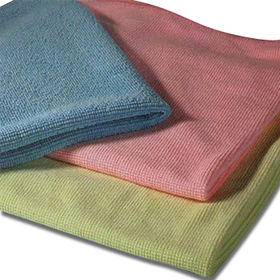 China Universal Microfiber Cloth, Lint-free, Customized Sizes, Colors and Weights are Accepted