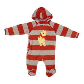 China Mameluco encapuchado del bebé con el material de algodón, disponible en 3 a 23 tamaños, diseños modificados para requisitos particulares disponibles