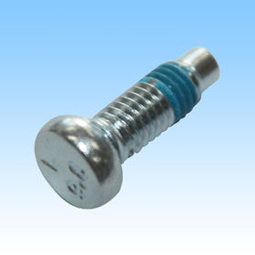 Bolt, Made of Iron with Plating Blue Zinc, Process by Turning, Threading, Hammering, Teflon Paste from HLC Metal Parts Ltd