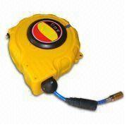 High Standard Retractable PU Air Hose Reel from BellRight with Multicolor Quick Coupling