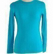 Women's Machine Washable Wool T-shirt from China (mainland)