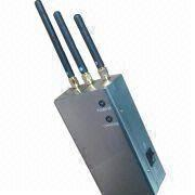 Portable Mobile Phone Signal Jammer with 110 to 240V AC Input Voltage, +30dBm/1W Single Output Power