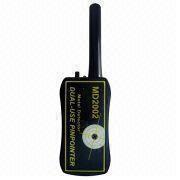 Detector de metales del PDA con poder de batería estándar o recargable de 9V