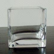 Cube-shaped Glass Vase from China (mainland)