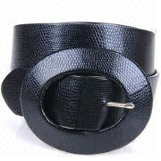 Wide PU Belts with PU Covered Buckle