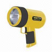 Hong Kong SAR Professional Rechargeable Power Spotlight with AC/DC Adaptor, Plastic Housing