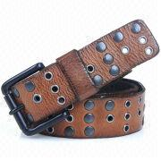 Leather Belts with Prong Buckle
