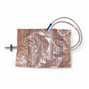 Urine Collection Bag, Medical Grade PVC, Conical Connector and Protective Cap