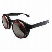 Women's Fashionable Sunglasses with 3 Pieces of Lens, Available in International Pop Design