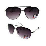 China Las gafas de sol de los hombres con el marco brillante popular del níquel, los templos negros y el graduado fuman la lente