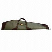 Canvas and Top Quality Genuine Leather Rifle Gun Case, Shotgun Slip in Case