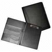Synthetic Leather File Folder with Metal Binder Inside Cover from Beijing Leter Stationery Manufacturing Co.Ltd