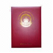 Certificate Cover with PVC-coated Paper from Beijing Leter Stationery Manufacturing Co.Ltd
