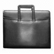 Briefcase with Handle, Made of PVC Leather, Available in Black from Beijing Leter Stationery Manufacturing Co.Ltd