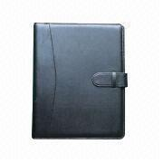 Synthetic Leather File Folder with Strap on Cover from Beijing Leter Stationery Manufacturing Co.Ltd