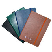 China PVC-coated Paper Notebook with Elastic Strap