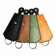 Keychain, made of PU/PVC leather from Beijing Leter Stationery Manufacturing Co.Ltd