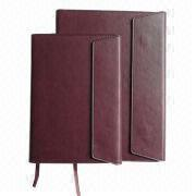 Notebook, Made of PU/PVC Leather, OEM Orders are Welcome from Beijing Leter Stationery Manufacturing Co.Ltd