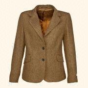 Wholesale Ladies casual woolen jacket / blazer tweed Herringbone Camel, Ladies casual woolen jacket / blazer tweed Herringbone Camel Wholesalers