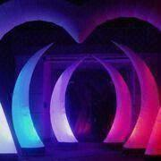 Inflatable party decoration, LED arch with 6 to 12ft height, install on promotion/events