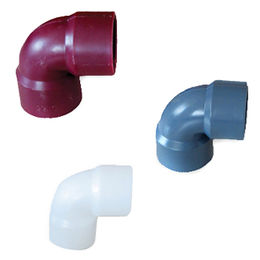 90° Elbow Plastic Pipes, Made of FRPP, CPVC and PP-H, Used for Construction Area