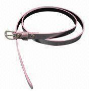 2012 Fashionable Women's Skinny PU Belt from China (mainland)