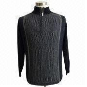 Men's worsted woolen sweater from China (mainland)