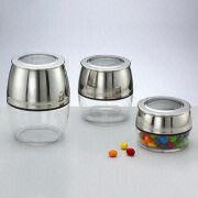 Taiwan 4-inch SS Canister Jars with Air-tight Cover, Available in Various Sizes