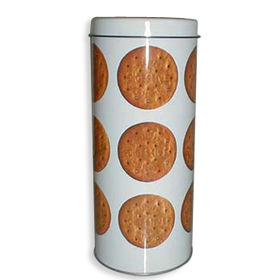 Tall Round Biscuit Tin from China (mainland)