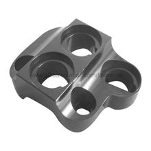 Aluminum CNC part with gloss black anodized