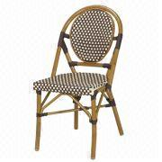China Bamboo Look Rattan Bistro Chair