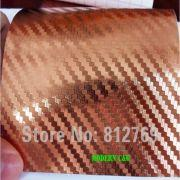 Wholesale 1.52m x 30m bronze 3d carbon fiber vinyl car wrap film car stickers, 1.52m x 30m bronze 3d carbon fiber vinyl car wrap film car stickers Wholesalers