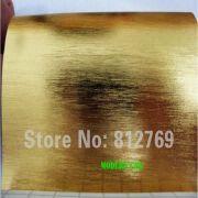 Wholesale 1.52 x 30m golden brushed aluminum vinyl car wrap film practicable car stickers, 1.52 x 30m golden brushed aluminum vinyl car wrap film practicable car stickers Wholesalers