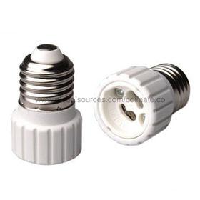 China E27-GU10 adaptadores, pieza plástica de PBT, tornillo niquelado del cobre E27