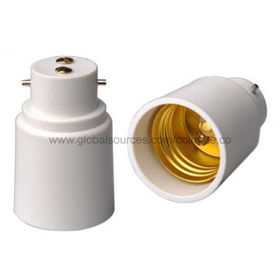 Adapters with PBT Plastic Part and Aluminum E27 Screw Shell